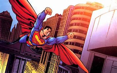 Superman Comics Dc Background Wallpapers Desktop Cartoon