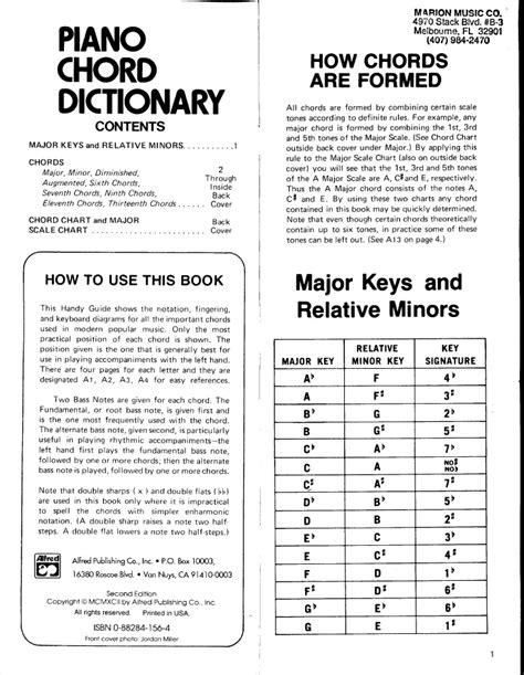 si鑒e de piano diccionario de acordes para piano
