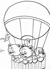 Balloon Coloring Air Pages Printable sketch template