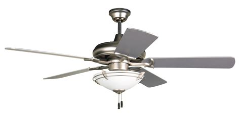 craftmade 52 quot ceiling fan with light kit and blades