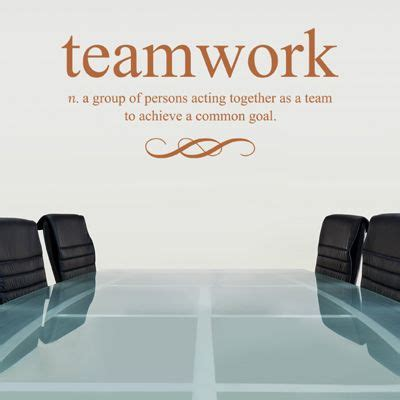 teamwork defined quote wall decals stickers graphics office decorating ideas pinterest