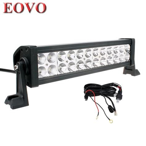 12 inch 72w led light bar switch wiring kit for road