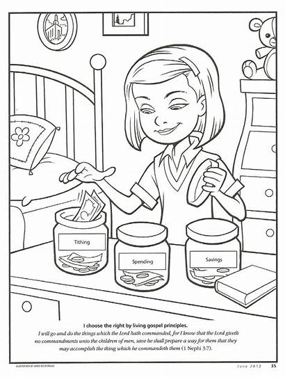 Coloring Tithing Pages Clipart Offering Paying Giving