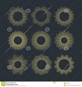 Set Of Retro Sun Burst Shapes. Vector Illustration Stock ...