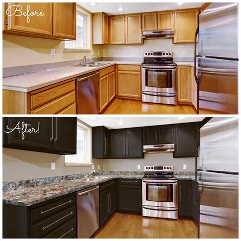 kitchen cabinet painter paint kitchen cabinets black before after deductour 2658
