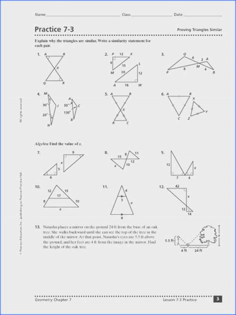 Some of them have different sizes and some of them have been turned or flipped. Unit 6 similar triangles homework 4 similar triangle ...