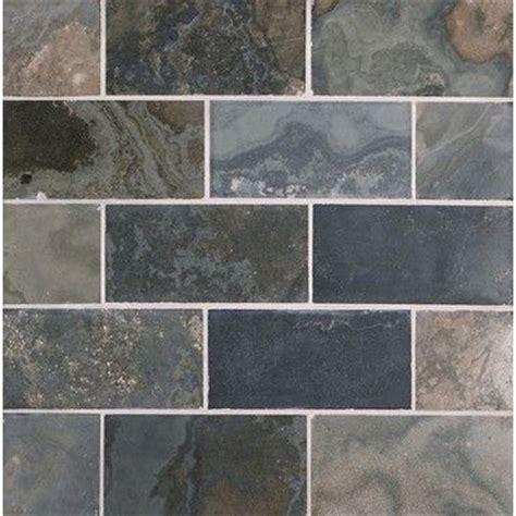 honed slate subway tile blue grey black 24th