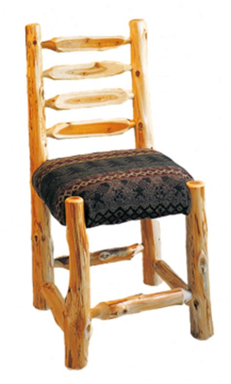 ladderback diner with upholstered seat rustic furniture