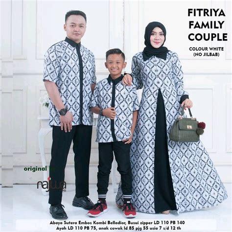jual couple batik baju pesta ayah ibu  anak laki laki