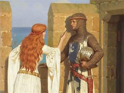 Raphaelite Pre Knight Leighton Edmund Blair Ages