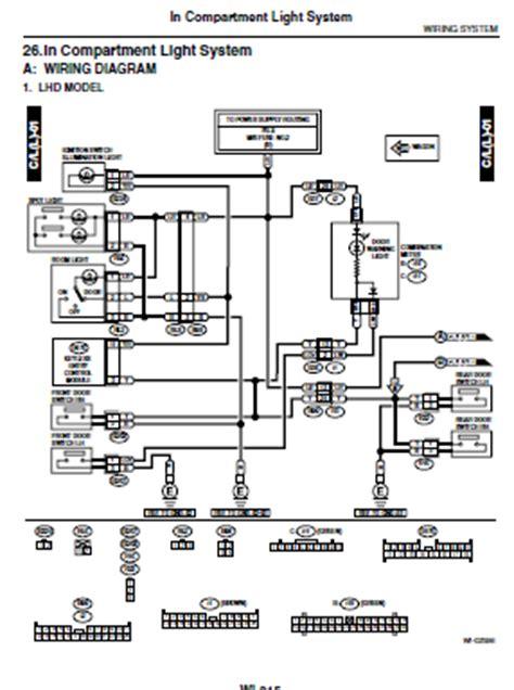 Bu Engine Compartment Diagram by Repair Manuals Subaru Impreza Gd Gg Wiring Diagrams
