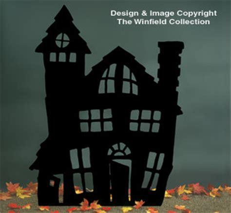 halloween haunted house shadow woodcraft pattern