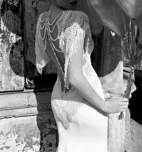 exquisite back on a roaring twenties style wedding dress With roaring 20s wedding dress