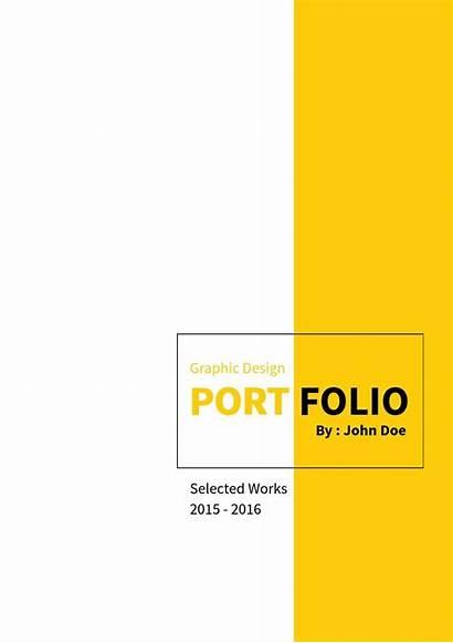 Portfolio Graphic Template Templates Interior Portfolios Minimal