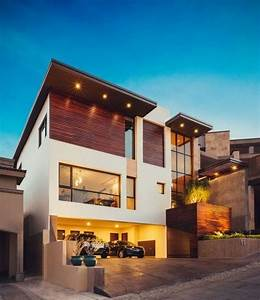 Garage Im Haus : einfamilienhaus pultdach beleuchtung eingebaut garage ~ Lizthompson.info Haus und Dekorationen