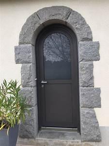 dov ouvertures porte d39entree cintree mixte bois alu a With porte d entrée cintrée aluminium