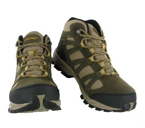 light waterproof boots mens hi tec alto mid waterproof lightweight hiking walking