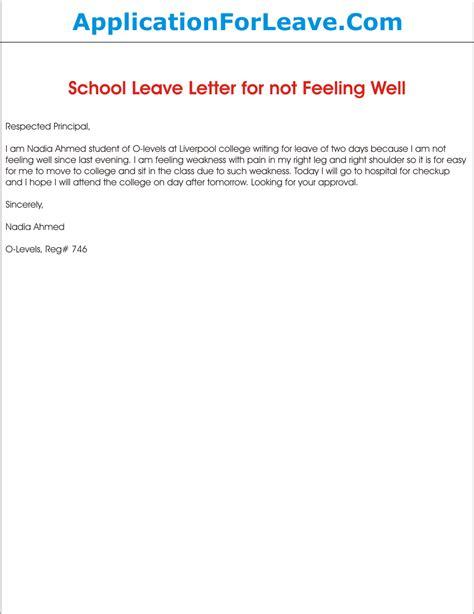 school leave application   feeling