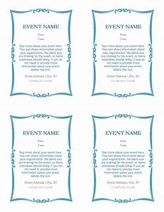 event invitations 4 per page office templates With wedding invitation template 4 per page