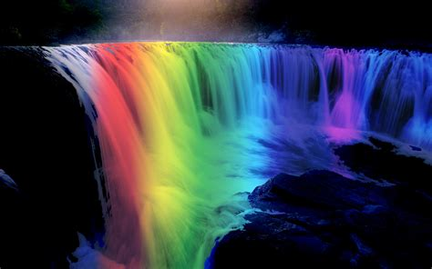 Rainbow Animated Wallpaper - desktop wallpapers waterfalls with rainbow wallpapersafari