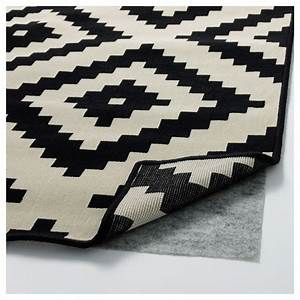 lappljung ruta rug low pile white black 200x300 cm ikea With tapis carré 200x200