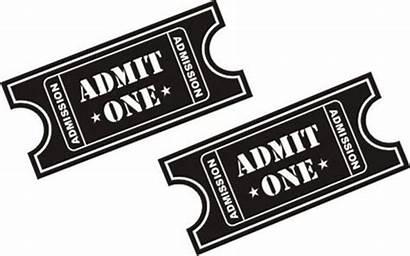 Admit Clipart Ticket Sticker Decal Clip Vinyl
