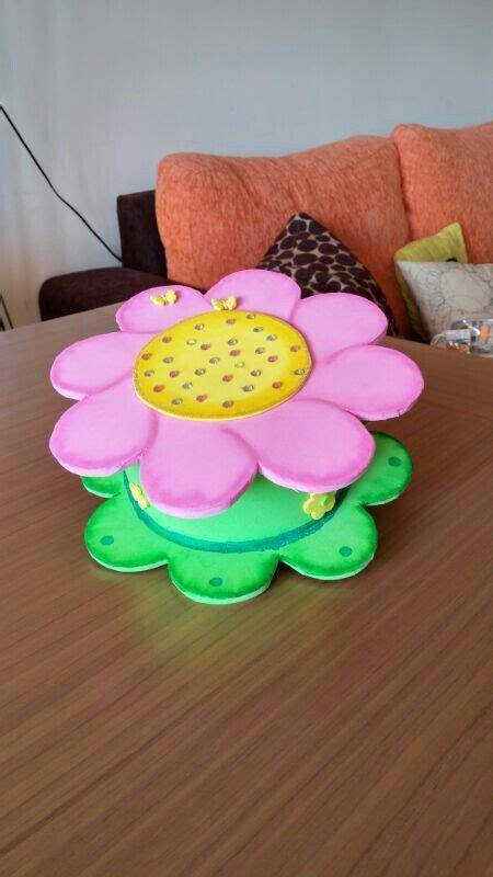 caja de goma redonda de flor regalos foamy nuestras creaciones