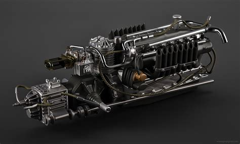 artstation auto union  engine vasilije ristovic
