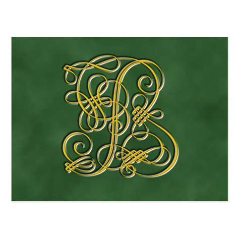 fancy royal monogram letter  postcard zazzle