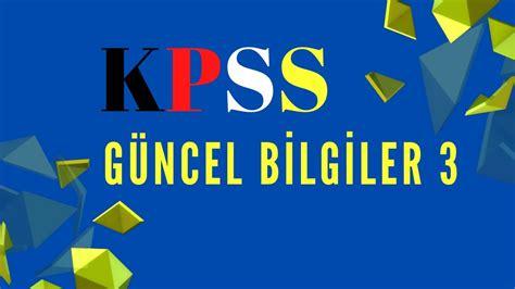 Kpss haberleri ve güncel son dakika gelişmeleri için tıklayın! KPSS GENEL KÜLTÜR 3 - YouTube