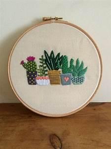 Kunst Für Zuhause : hnliche artikel wie kaktus embroidery hoop kunst sukkulenten hand embroidery geschenk f r ~ Sanjose-hotels-ca.com Haus und Dekorationen