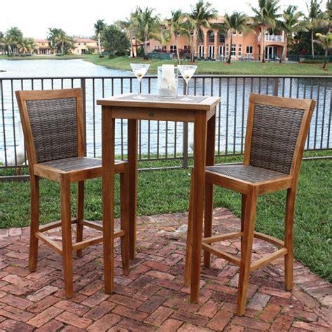 tall patio table set leeward islands bar height collection by panama jack