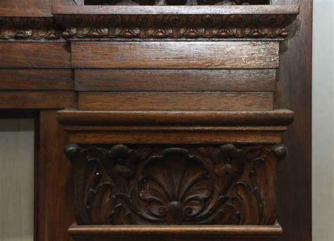 heavily carved ornate wood mantel olde good