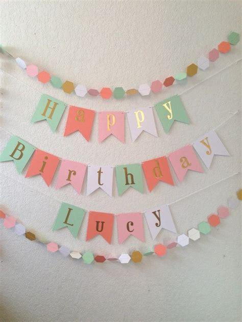 Happy Birthday Banner Gold Foil Birthday Banner by