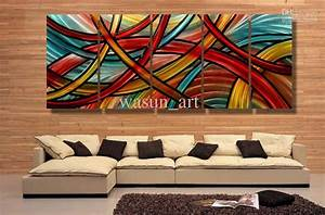 Decorate using abstract paintings newlibrarygoodcom for Kitchen cabinet trends 2018 combined with 3 piece floral wall art