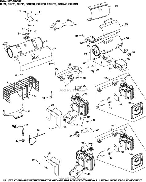 27 Hp Kohler Engine Diagram by Kohler Ech740 3012 Cpd 27 Hp 20 1 Kw Parts Diagram For