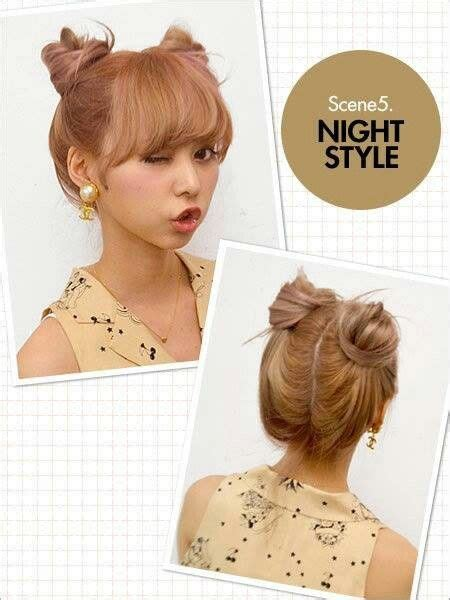 Japanese Hairstyles Buns by Japanese Buns Hair In 2019 Peinado Ulzzang