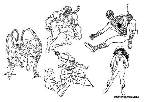 Spiderman Villains Coloring Pages