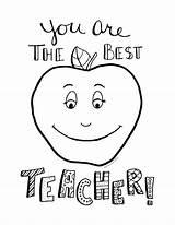 Teacher Appreciation Coloring Pages Printable Week Card Pdf Emilie sketch template