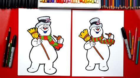 draw frosty  snowman art  kids hub