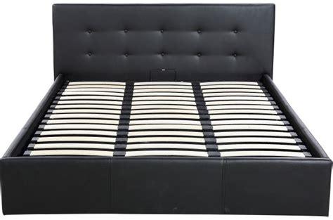 lit avec sommier 160x200 lit coffre capitonn 233 avec sommier noir 160x200 elyni design sur sofactory
