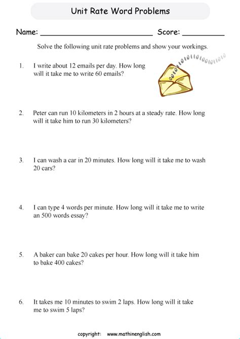 read the rate and ratio word problems and calculate the answers grade 5 math word problems
