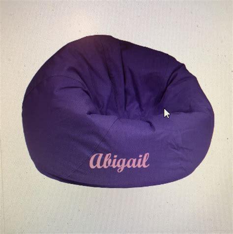 purple bean bag small