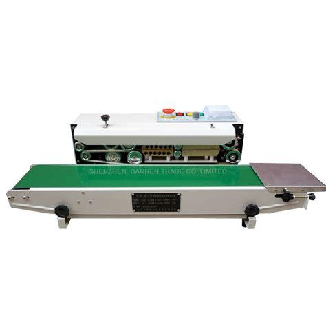 continuous film sealing machine plastic bag package machine band sealer horizontal heating