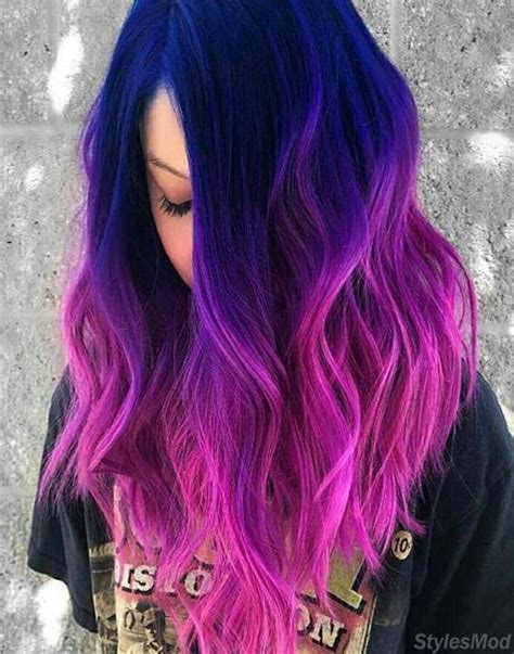 How Many Hair And Blue by Great Combination Of Blue To Pink Hair Color Highlights