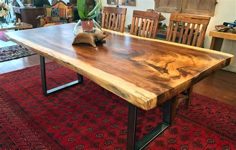 kitchen islands butcher block live edge wood slab dining tableimpact imports