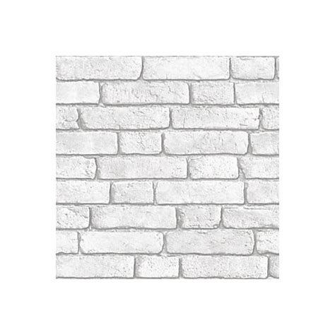 muriva white brick wall wallpaper departments diy  bq