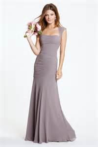 grey chiffon bridesmaid dress fit mermaid sweetheart open back slate grey chiffon bridesmaid dress with straps