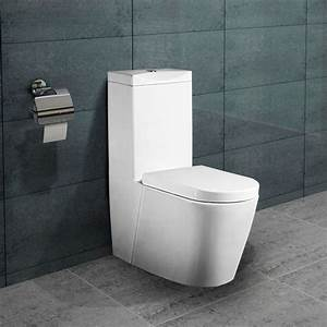 Stand Wc Mit Spülkasten Spülrandlos : lux aqua stand wc toilette mit sp lkasten nano beschichtung softclose a380 ebay ~ Frokenaadalensverden.com Haus und Dekorationen