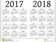 2017 2018 Calendar Calendar Template 2018